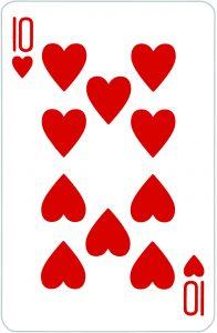 Signification jeu 32 cartes; jeu 32 cartes; signification 10 Coeur