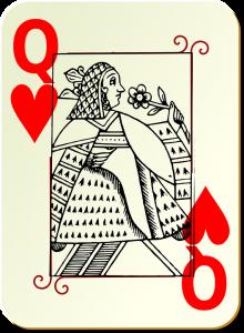 jeu de 32 cartes dame de coeur